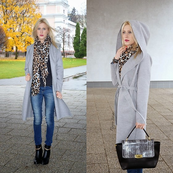 Magia Sióstr - Besmart Grey Coat, Bulaggi Bag - Grey Coat B.