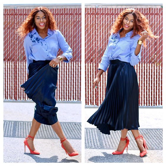 TOMGFASHION COM - Tomgfashion Pleated Skirt - How to wear a pleated skirt.