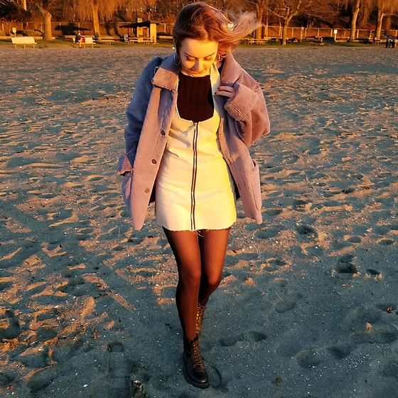 Grace Chapek - Dr. Martens Boots - Handmade Dress at the Beach
