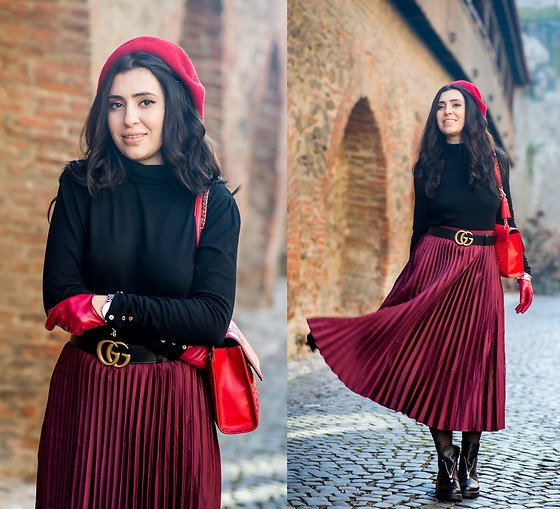 Andreea Manole -  - Red skirt
