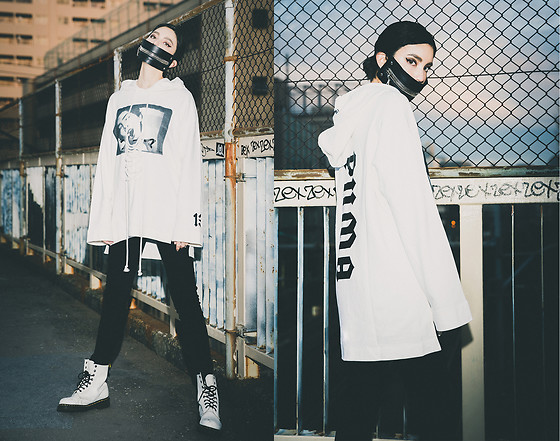 Samantha Mariko - Acuod By Chanu Mask, Fenty Puma Hoodie, Urban Outfitters Skinnies, Dr. Martens Boots - Acuod by Chanu