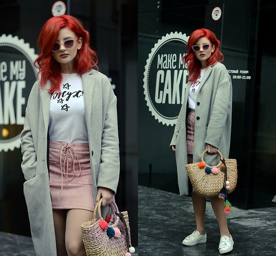 Vlada Kozachyshche - Shirt, Zaful Skirt, Zaful Bag, Zaful Sneakers - Too Busy