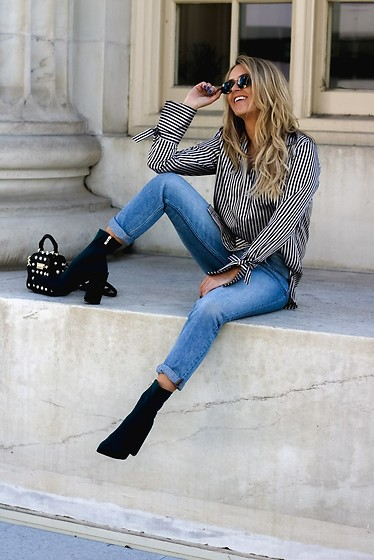 Amber Wilkerson - Shirt, Jeans, Bags, Ankle Boots, Sunglasses - New year new adventures new arrivals
