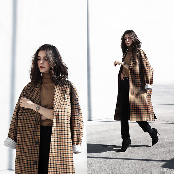 CLAUDIA Holynights - Missy Empie Boots - Camel plaid