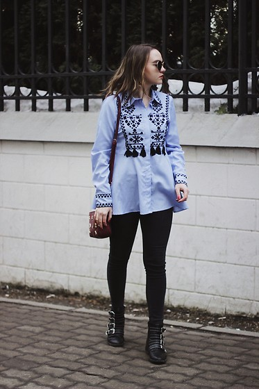 Alina Ermilova - Haute Rogue Embroidery Shirt, Deichmann Black Chelsea Boots - Embroidery Shirt