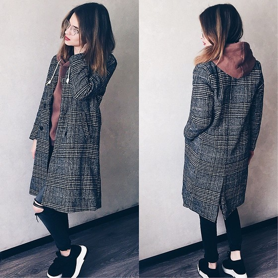 Elena N -  - Checkered Coat