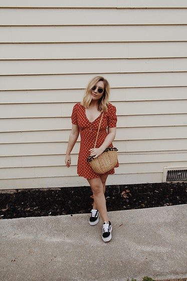 Kelly Keene -  - Tea Dress + Vans