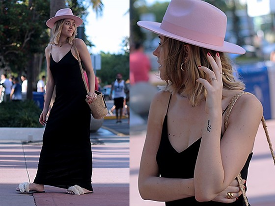 Amy Ramírez - Zara Dress, Lack Of Colour Hat - Maxi Black