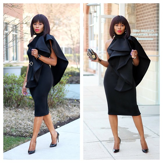 TOMGFASHION COM - Tomgfashion Timi Ruffle Chic Dress - 10 WAYS TO UPDATE YOUR LITTLE BLACK DRESS
