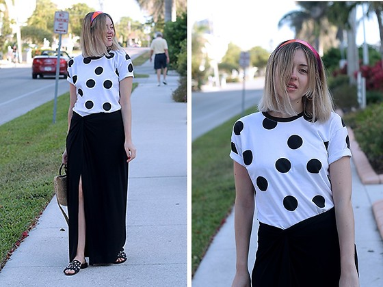 Amy Ramírez - Zara Skirt - Maxi black and white