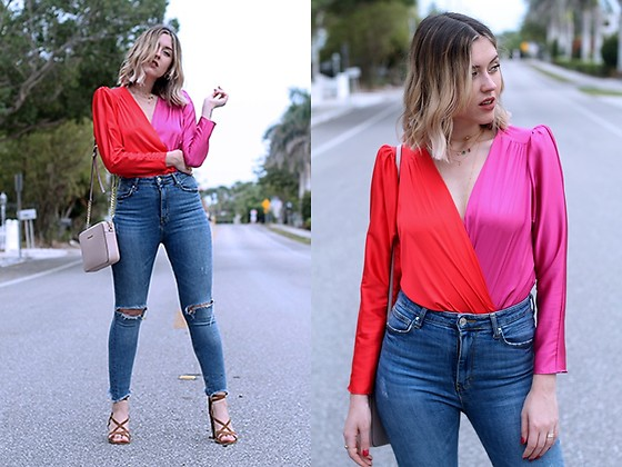 Amy Ramírez - Zara Blouse - Controversial colour combo