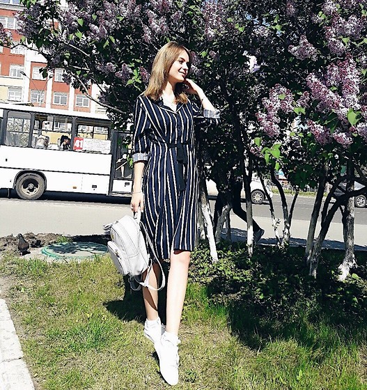 Elena N -  - Striped dress