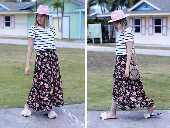 Amy Ramírez - Zara Skirt, Cos Top - Flowers and stripes