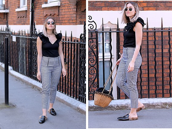 Amy Ramírez - Shein Trousers, Zara Top, Gucci Shoes - Checked