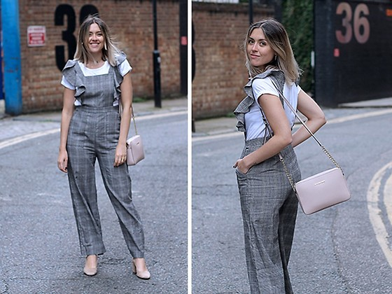 Amy Ramírez - Shein Jumpsuit - Prince of Wales check