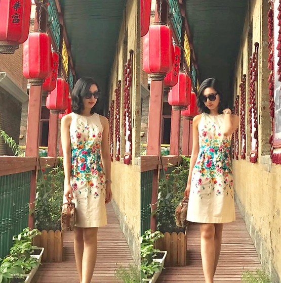 Jade Zhu - Anthropologie Dress, Patricia Handbag, Urban Outfitters Sunglasses - Northeastern China