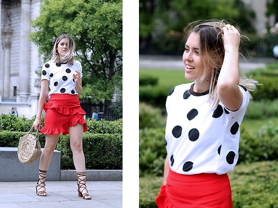 Amy Ramírez - Shein Skirt, Top Shop - Polka dots and frills