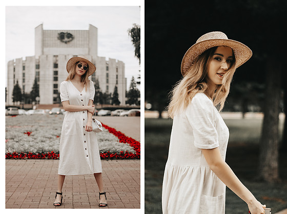 JANINA ERMOLAEVA -  - White linen dress