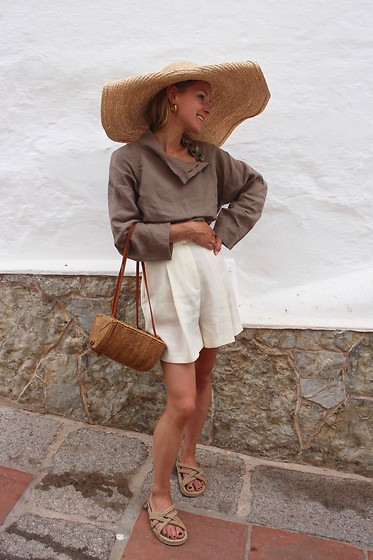 Anna Borisovna - H&M Hat, Zara Shirt, Mango Bag, Mango Shorts, Nomadic State Of Mind Shoes - Big Hat