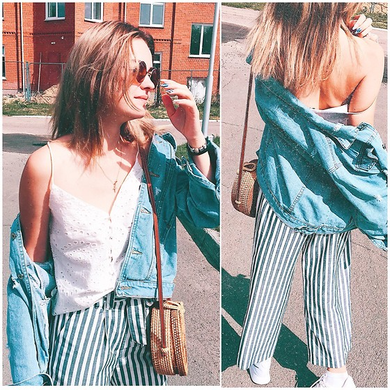 Elena N -  - Striped culottes