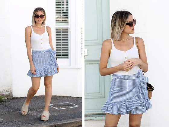 Amy Ramírez - Shein Skirt, Shein Top - Frilled stripes