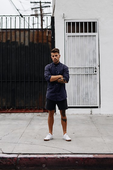 Kevin Elezaj - Vans Sneakers, Topman Shorts, Asos Shirt - Los Angeles