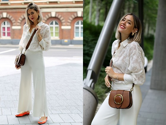 Amy Ramírez - Zara Trousers, Ralph Lauren Bag, Zara Shirt - Autumn white