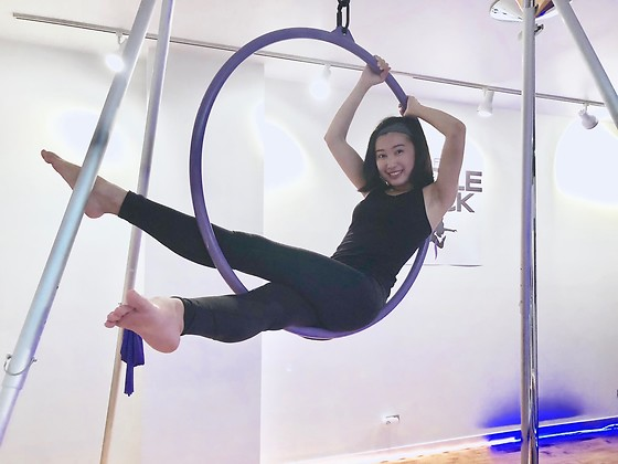 Jade Zhu - Under Armour Pant, Under Armour Top, Nike Headband - Aerial Hoop