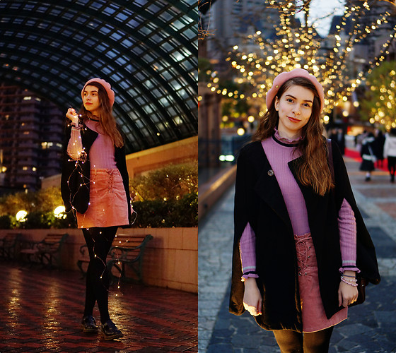Ana B - Forever 21 Skirt, Dr. Martens Shoes - Ebisu Lights