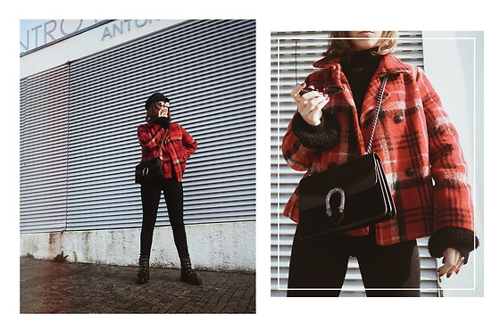 Maria Marques -  - TARTAN COAT +BLACK BASICS
