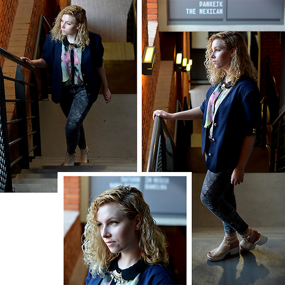 Iga Parker - Thrift Shop Vintage Blazer, Five Jeans - Easter