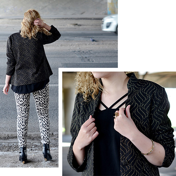 Iga Parker - Zara Jeans, Thrift Shop Blazer - On the go