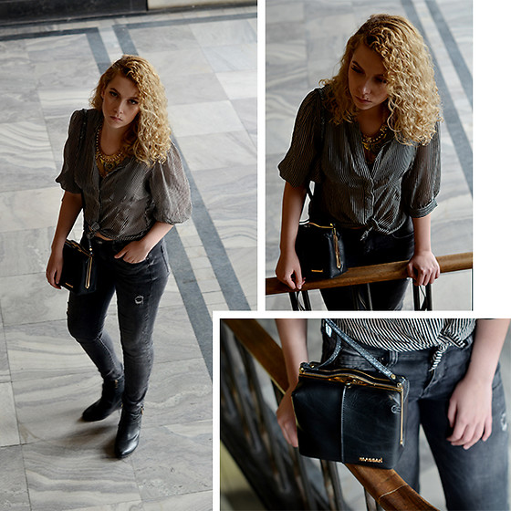 Iga Parker - Warehouse Shirt, Monnari Bag, Five Jeans - New classic
