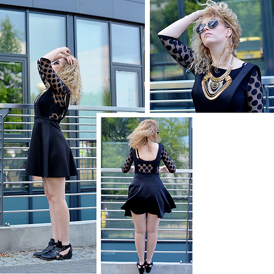 Iga Parker - Zara Top, Boohoo Romper - All black everything