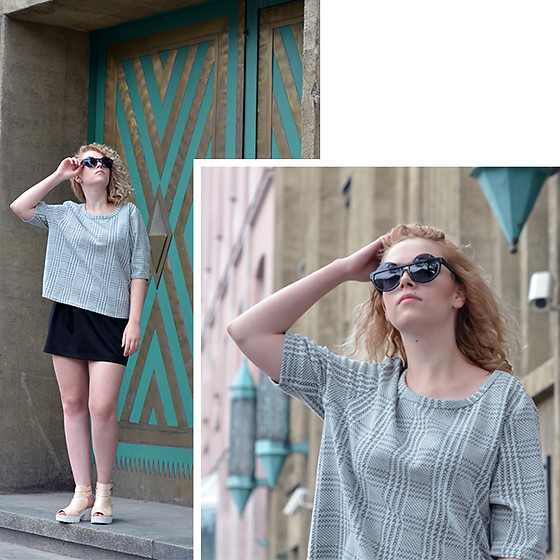 Iga Parker - Zara Skirt, Thrift Shop Top - Simple