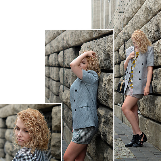 Iga Parker - Zara Skirt, Thrift Shop Vintage Short Sleeve Blazer - Weekday