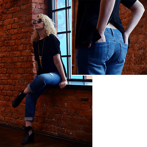 Iga Parker - Five Jeans Blue, Reserved Sunglasses - Windsor