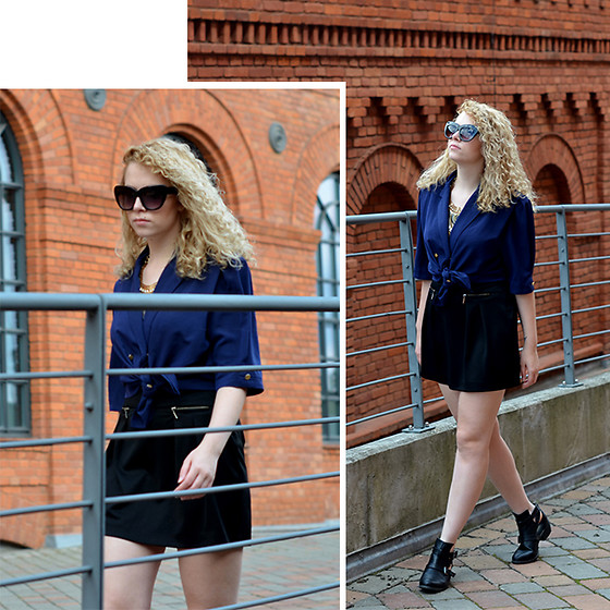 Iga Parker - Zara High Waist Skirt, Thrift Shop Vintage Shirt - Vintage shoppin'