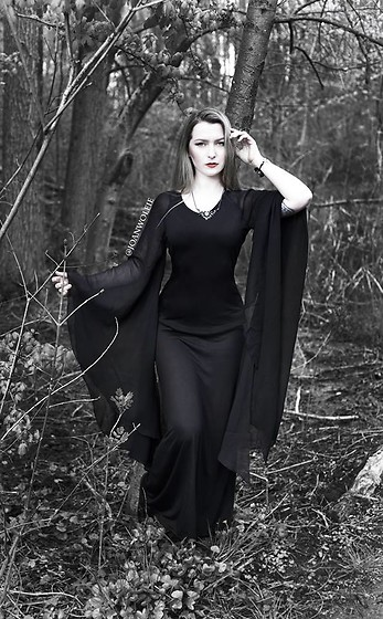 Joan Wolfie - Holy Clothing Dress, Alchemy Gothic Necklace - MORTICIA // Joan Wolfie