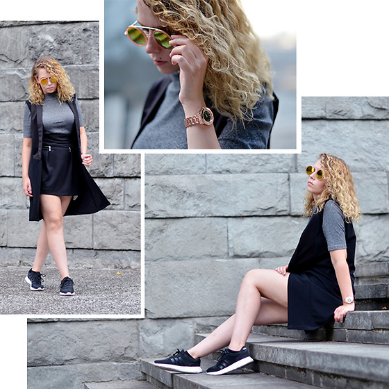 Iga Parker - Zara High Waisted Skirt, H&M Top, Adidas Sneakers - Simple as
