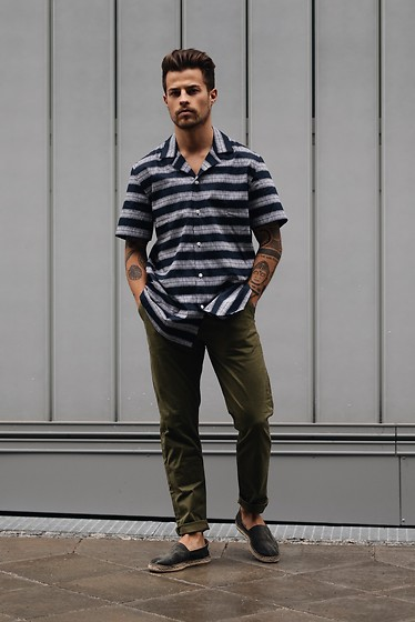 Kevin Elezaj - Toms Espadrilles, Scotch & Soda Pants, Samsoe Shirt - June 29