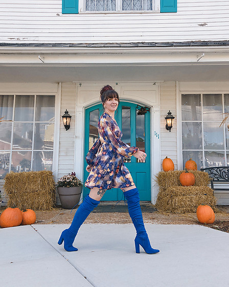 Jessie Barber - Shoedazzle Portia Over The Knee Boots, Ettika Large Coin Lariat Necklace - Fall Boots