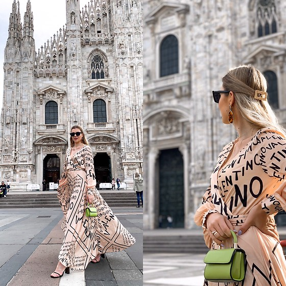 Zuza - Lossal Dress, Topshop Bag, Asos Hair, Zara Sandals - Duomo di Milano
