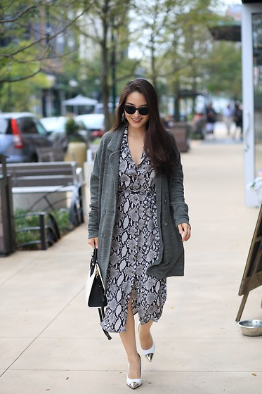 Kimberly Kong - Asos Snakeskin Midi Dress - 8 Ways to Hide Muffin Top With Visual Illusions