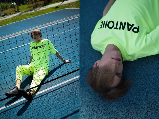 Piotr Czak - Bershka T Shirt, Bershka Pants, Zara Shoes - NEON LIGHTS