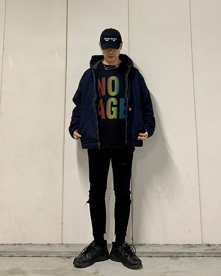 ★masaki★ - Kollaps 実験音楽, Dickies Vintage, No Age Tee, Neuwdenim Jeans, Nike Air Monarch - 実験音楽