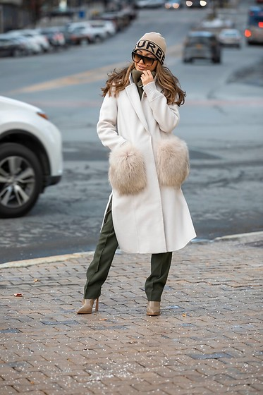 Lauren Recchia - Dawn Lecy Coat, Burberry Beanie, Vince Pants, Fendi Boots, Celine Sunglasses - Keep It On The DL