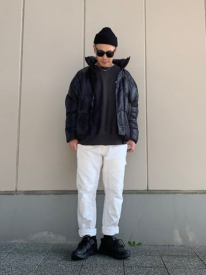 ★masaki★ - Bershka Puffer, Champion Sweat Shirts, Carhartt Wip Work Pants, Nike Air Monarch - Monotone