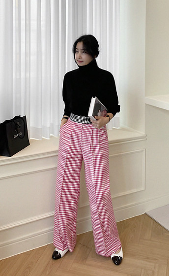 Miamiyu K - Miamasvin Two Tone Houndstooth Pants - Houndstooth Comeback