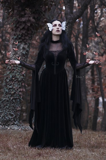 Ellone Andreea - Punkrave Dress, Sheer Long Sleeve Top - Cocoon